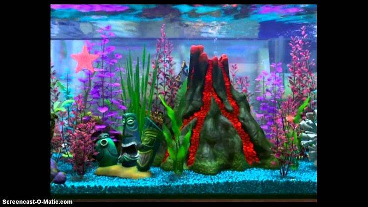 Disney Pixar Cars World Wallpaper Mural Finding Nemo Fish Tank Volcano Scene Google Search