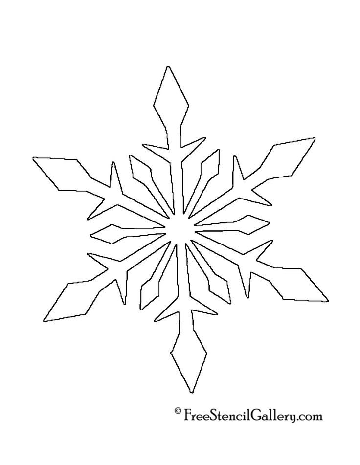 25+ best ideas about Snowflake Stencil on Pinterest