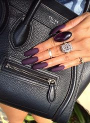 nails matte and purple
