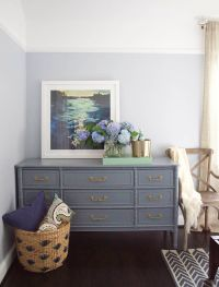 Dresser painted with the color Wolf Gray by Benjamin Moore ...