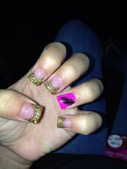 cute acrylic nails with feather