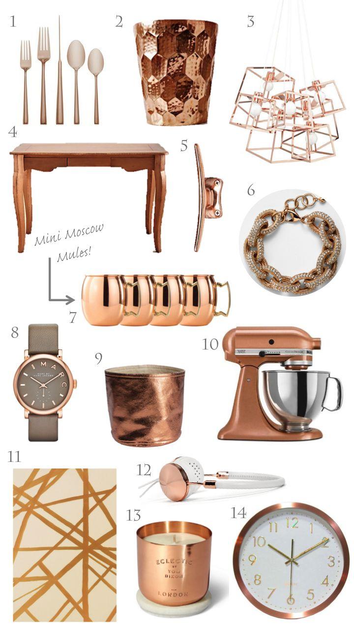 Trending Copper Rose Gold Home Decor FOR THE HOME Pinterest