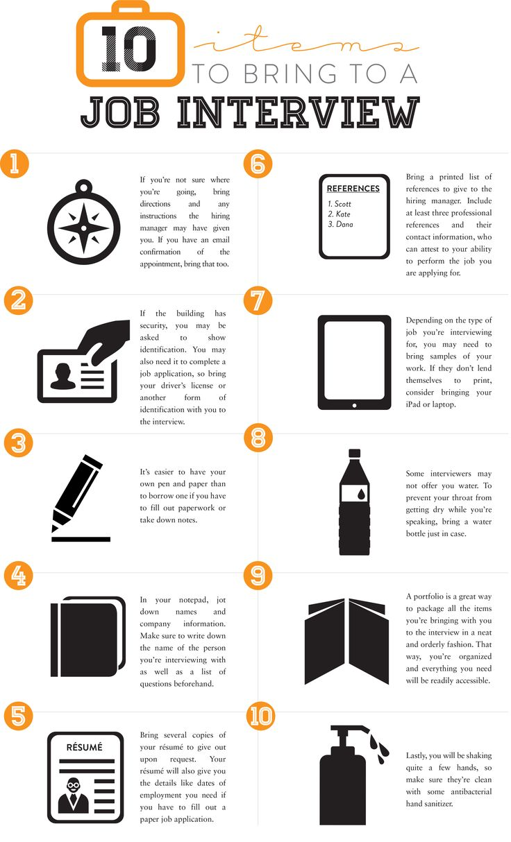 #INFOGRAPHIC: 10 Items to Bring to a Job Interview