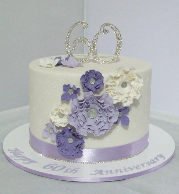 60th Wedding Anniversary Cake Cake Decorating Ideas