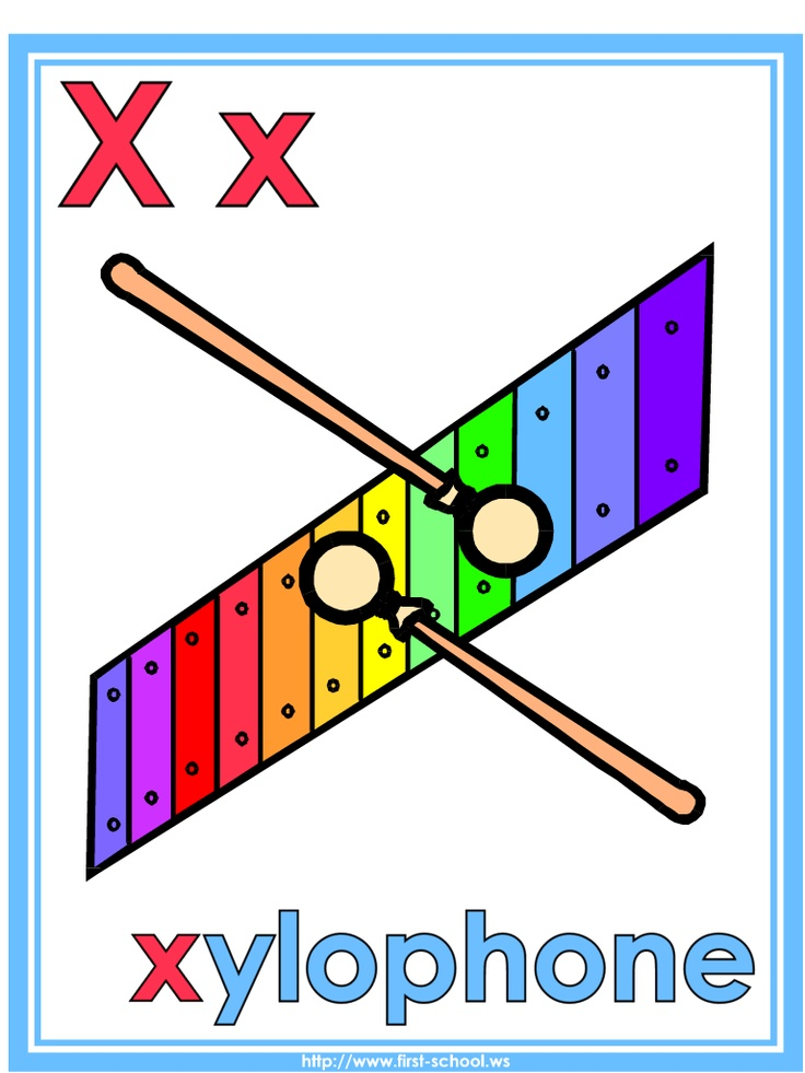 Letter X Xylophone Theme Lesson Plan Printable Activities