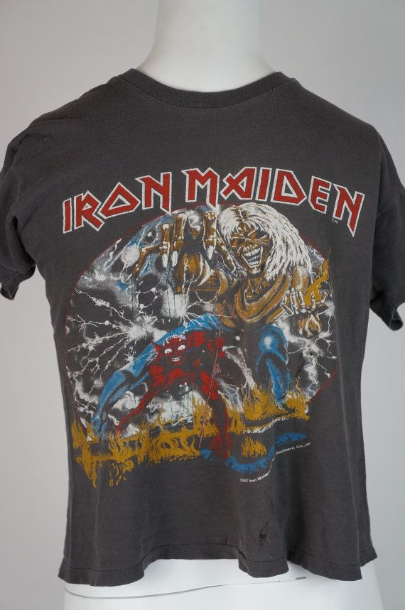IRON MAIDEN Vintage Concert Shirt 80s TOUR Dates T The Number Of The Beast 1982  Concert