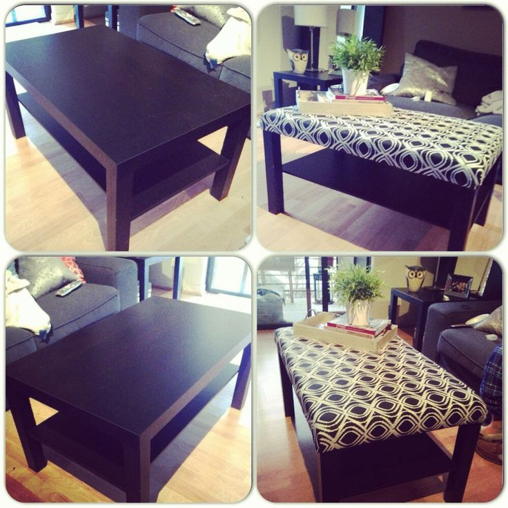DIY IKEA Coffee Table Turned Ottoman I Did It Myself