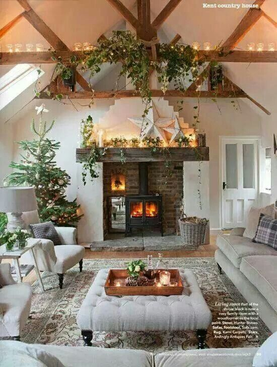 cosy living room with log burner grey accent wall in this looks very cozy | /family rooms pinterest ...