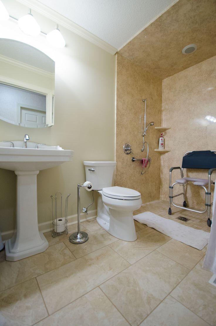 Universal Design Aging in Place Design Handicap Accessible Walkin Shower No threshold walk