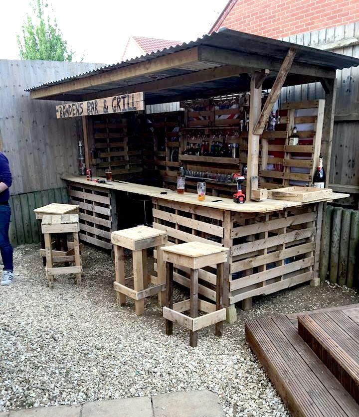 25 Best Ideas About Outdoor Pallet Bar On Pinterest Outdoor