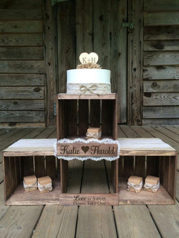 Rustic Wedding Cake Stand Rustic Wedding Cupcake Stand Favor Stand Wedding Crate  Wedding