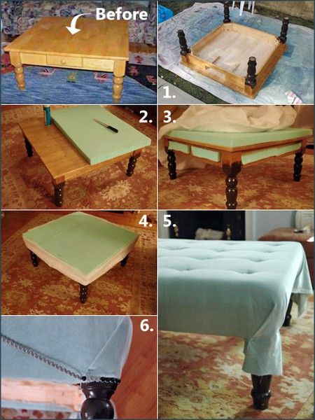 Making Your Own Ottoman Coffee Table  Woodworking