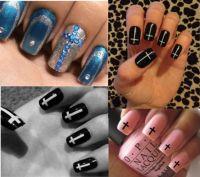 25+ best ideas about Cross nail designs on Pinterest | 16d ...