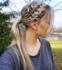 25+ Best Ideas about French Braid Ponytail on Pinterest ...