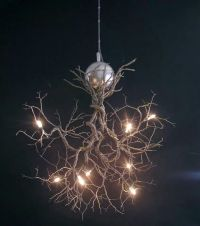 Tree branch light fixture | DECOR | Pinterest | Trees ...