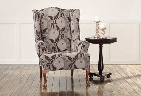 Stretch Dahlia Wing Chair Covers stylish slipcover offers