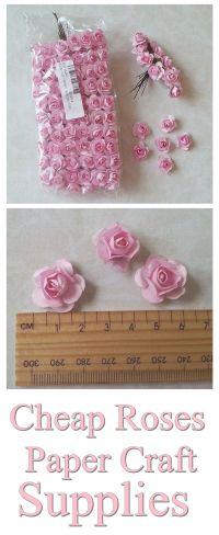 Cheap paper flowers, shabby chic roses embellishment for ...