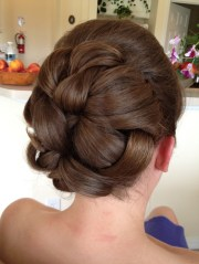 wedding hair - large barrel style