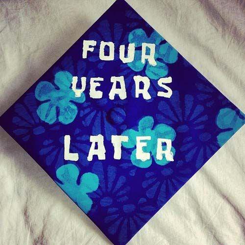 creative graduation caps four years later spognebob