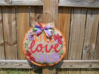 HandPainted Burlap Door Decoration Live Laugh by ...
