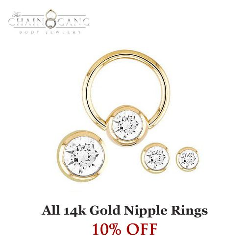 All 14k Gold Nipple Rings 10% Off!