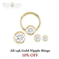 All 14k Gold Nipple Rings 10% Off! | Jewelry | Pinterest