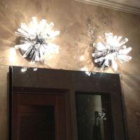 Modern bathroom light fixtures   Powder room   Pinterest ...