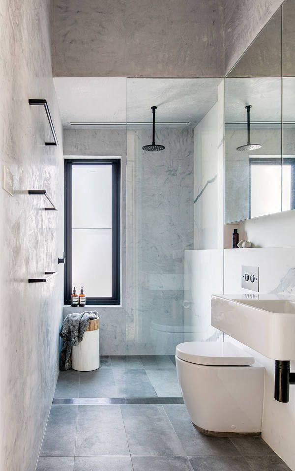 Die besten 25 Schmales Badezimmer Ideen auf Pinterest  kleines schmales Badezimmer Langes