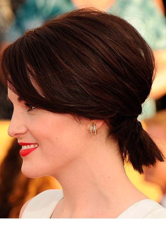 25 Best Ideas About Short Ponytail Hairstyles On Pinterest