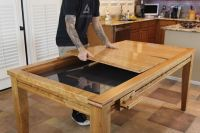 A multi-functional dining table that seats 8 comfortable ...