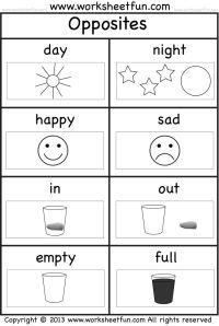 opposites worksheet | preschool | Pinterest | Opposite ...