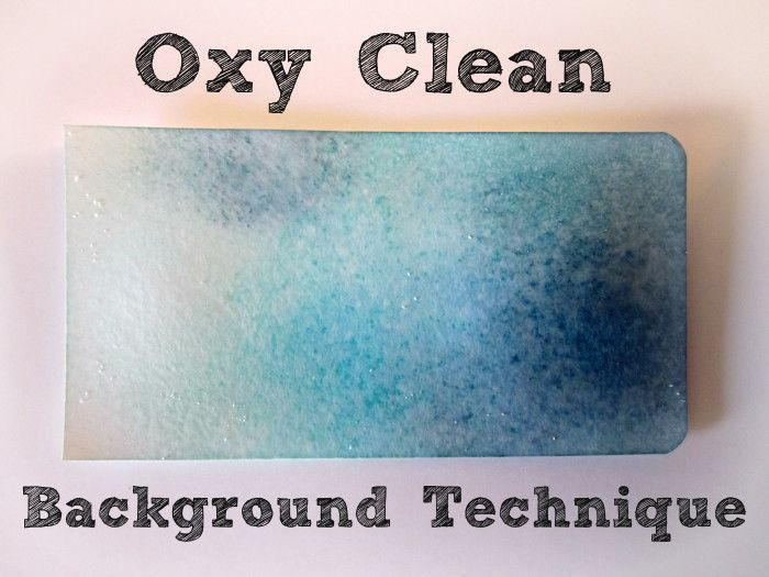 Photo Tutorial Stamping Techniques Oxy Clean