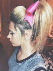 gymnastics cheer competition hairstyles