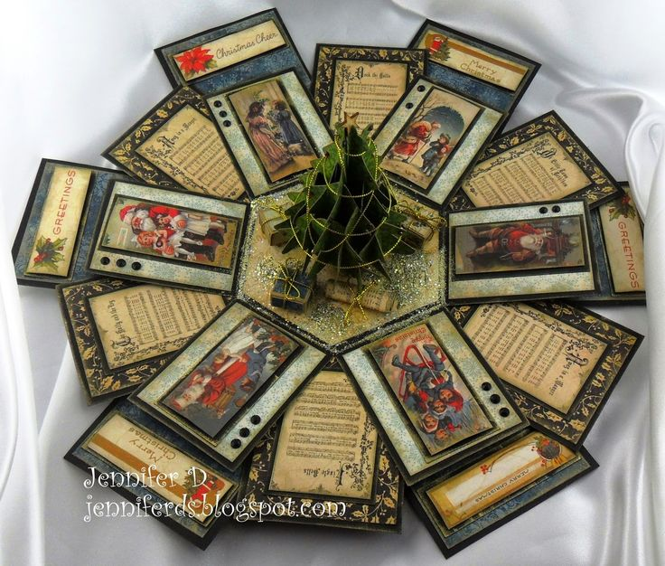 238 Best Cards Explosion Box Images On Pinterest