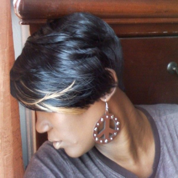 Shondras quick weave hairstyles layered cut  Quick weave