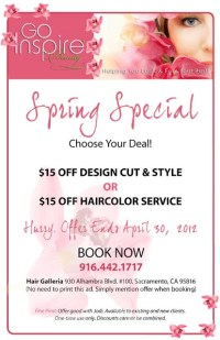 Spring Salon Special | Salon promotion ideas | Pinterest