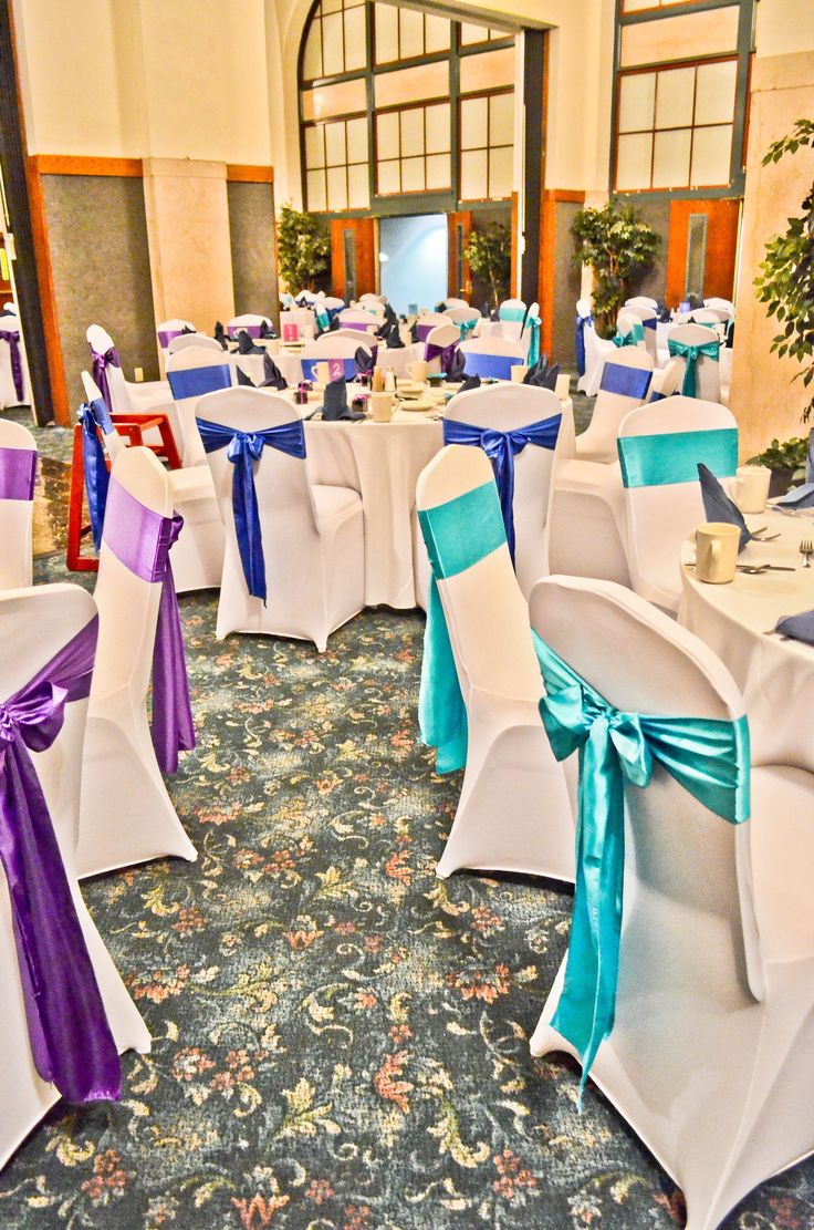 yellow spandex chair sashes cheap outdoor cushions white covers, purple, turquoise, & royal blue satin | simply unique we ...
