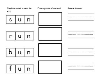 10 Best images about Short Vowel Word Families on