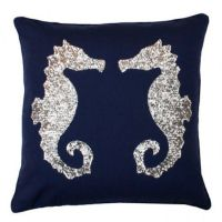 Sequin Seahorse Pillow ($31) liked on Polyvore featuring ...