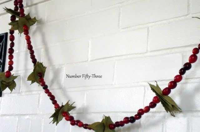 Number Fifty Three DIY Cranberry Amp Bay Leaf Garland