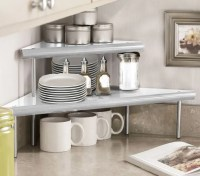Marimac 2-Tier Kitchen Counter Corner Shelf in Satin ...