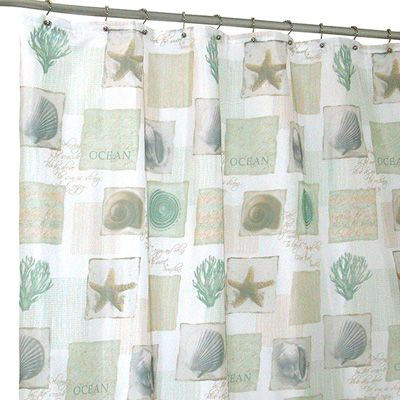 Famous Home Fashions Seaside Shower Curtain Meijer Bathroom Pinterest Fabric Shower