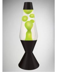 Lava Lamp with Green Lava, Clear Liquid, and Black Base