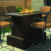Bar Height Patio Table With Fire Pit - WoodWorking ...