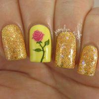 25+ best ideas about Belle Nails on Pinterest   Princess ...