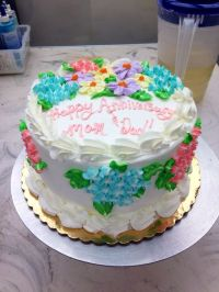 Publix cake with hydrangeas | OH MY cupcake! | Pinterest ...