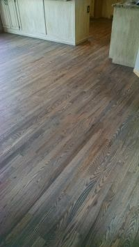 Red Oak floor, with custom gray stain | Hardwood Floors ...