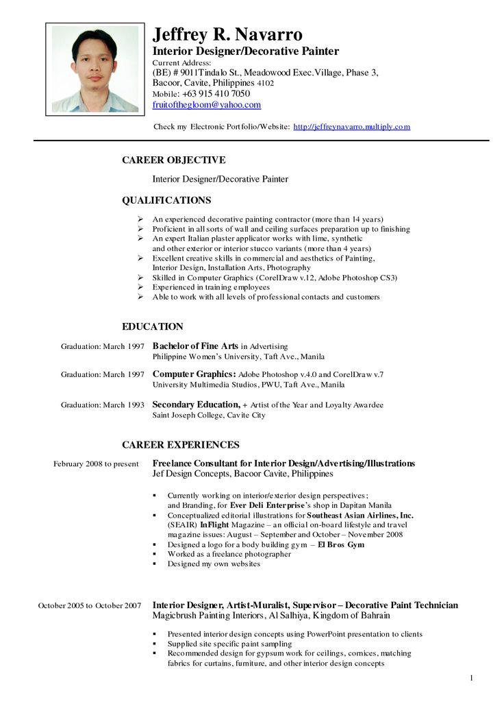 CV Template Artist  artdesigntemplatescom  CV Designs