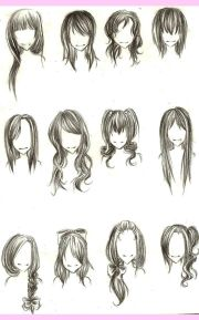 chibi hairstyles anime