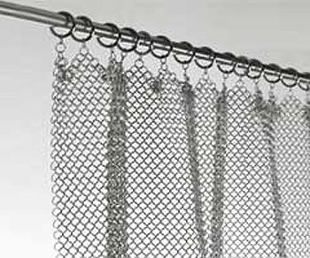 amazing chainmail curtain! Stainless Steel Fireplace